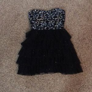 Delia's strapless party dress